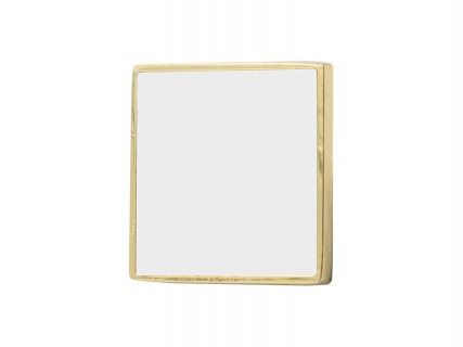 Metal Button (Gold, Square)