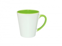 12oz Inner Rim Color Mug (Light Green)