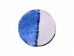 Flip Sequins Adhesive (Round ,Dark Blue w/ White)
