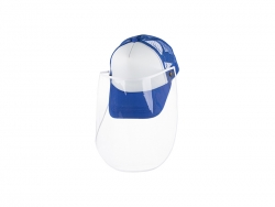 Sublimation Adult Mesh Cap w/ Removable Face Shield (Blue)