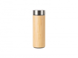 420ml/14oz Bamboo Flask Thermal Cup with Plastic Base