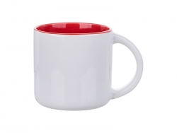 Sublimation 14oz Two-Tone Color Mug (Red)