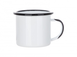 12oz/360ml Inner and Rim Enamel Mug (Black)