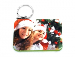 Rectangular Plastic Keychain 57*82mm(Color Edge)