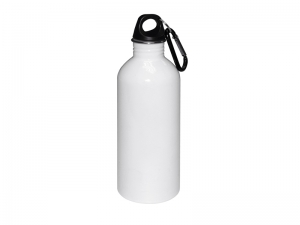 600ml Stainless Steel Bottle-White (same shape as 600ml al bottle)