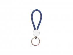 Round Braided Keyring (Blue)