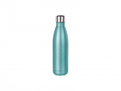17oz/500ml Glitter Stainless Steel Cola Shaped Bottle (Light Blue)