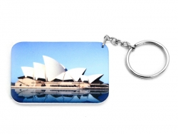 Rectangular Plastic Keychain 48*68mm