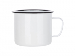 60oz/1800ml Enamel Mug (Black)
