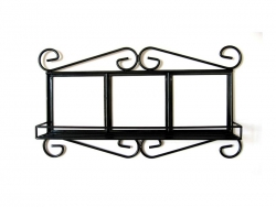 "Wrought Iron Frame with Shelf for 4.25"" Tiles"