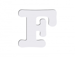 Sublimation HB Letters -F (10*10cm)