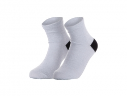 Sublimation Silver Silk Glitter Adult Crew Sock (8.5*22cm)