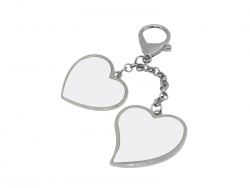 Two hearts Hanging Chain