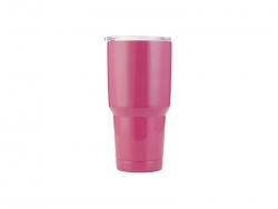 30oz Stainless Steel Tumbler( Rose Red)