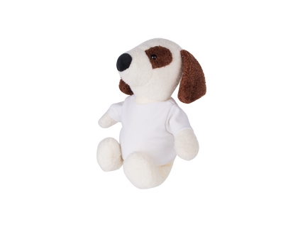 22cm Plush Dog w/ Shirt (Brown Ear)