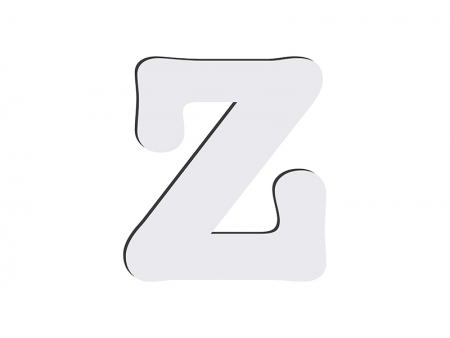 Sublimation HB Letters -Z (10*10cm)