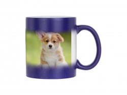 Sublimation 11oz Color Changing Mugs (StarSky Blue, Frosted)
