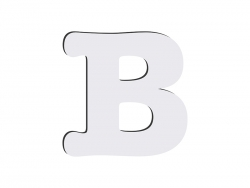 Sublimation HB Letters -B (10*10cm)