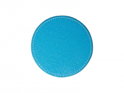 PU Leather Round Mug Coaster (Φ9.5cm,Light Blue)