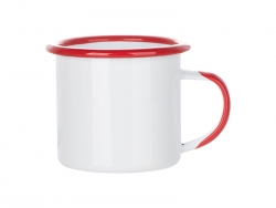 12oz/360ml Inner and Rim Enamel Mug (Red)