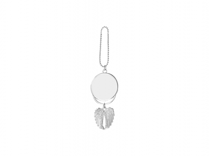 Angel wings Car Hanger Ornament (Two-Side Printable, Silver)