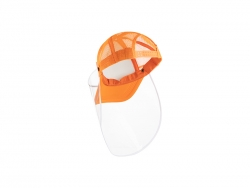 Sublimation Adult Mesh Cap w/ Removable Face Shield (Orange)