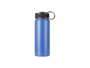 18oz/550ml Stainless Steel Flask w/ Portable Lid (Blue)