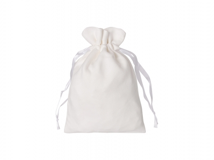 Sublimation Double-Sided Plush Drawstring Bag(16*23cm)