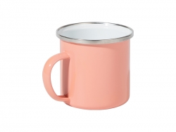 12oz/360ml Colored Enamel Mug (Rose Red)