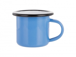 3oz/100ml Enamel Mug (Blue, Black Edge)