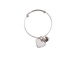 Adjustable Photo Bracelet W/ Insert (One Heart)