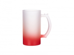 16oz Sublimation Glass Beer Mug Gradient Red