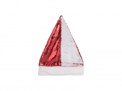 Flip Sequin Santa Hat (Red W/ White)