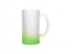 16oz Sublimation Glass Beer Mug Gradient Green