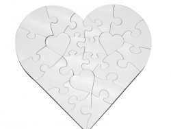 23 Pieces Sublimation Heart Shape MDF Puzzle