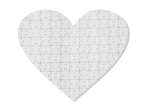 75 Pieces Sublimation Heart Fabric Puzzle