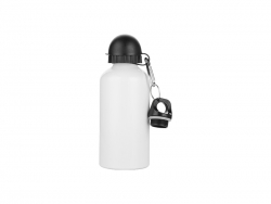 Sublimation Water Bottle 500ml, White with Two Caps