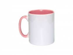 10oz Inner Rim Color Mug(Pink)