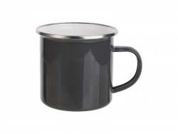 12oz Enamel Mug (Gray)