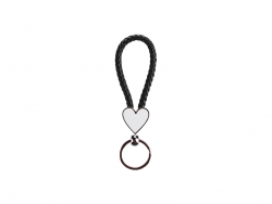 Heart Braided Keyring (Black)