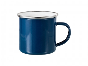 12oz Enamel Mug (Dark Blue)