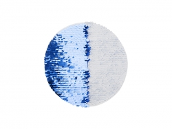 Flip Sequins Adhesive White Base (Round, Dark Blue w/ White)
