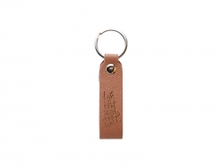 Laser Engraving PU Leather Keychain (Handle,Brown)