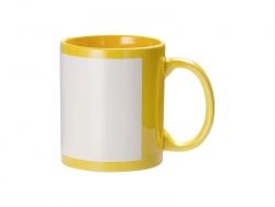 11oz Full Colour Mug w/ White Patch(Yellow)