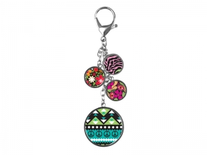 Four-circle Bag Decoration Keychain