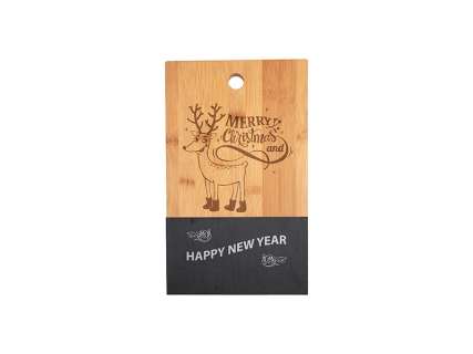 Bamboo with Slate Cutting Board (Rect, 16*30cm)