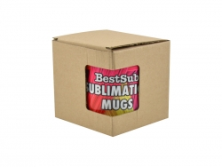 Sublimation 11oz Brown Cardboard Inner Box with Window