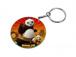 47mm Round Plastic Keychain(Color Edge)
