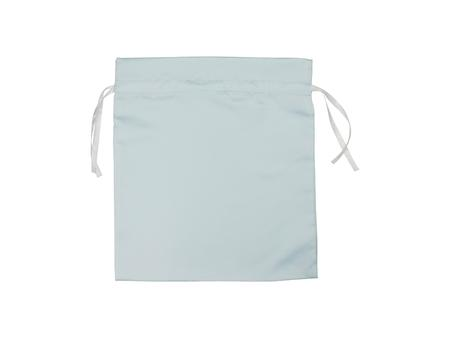 Light Blue Satin Drawstring Bag(35*38cm)