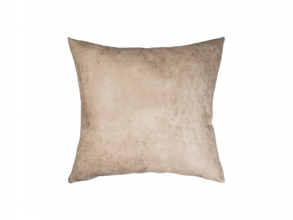 Sublimation Leathaire Pillow Cover (40*40cm, Brown)